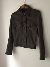 Ann Demeulemeester Bronze Leather Jacket, Really Rare!
