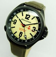 NEW KOMANDIRSKIE K-34 VOSTOK 476613 MILITARY MEN'S WRIST WATCH!!! DUAL TIME