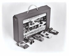 """Matchbox / Lesney b & W press release picture """"Cary Case Giftset"""" 1972"""