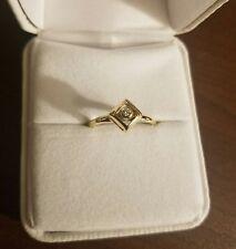 10 karat yellow gold diamond ring