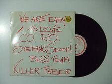 """Secchi – We Are Easy To Love(RMX)-Disco Mix 12"""" 33 Giri Vinile ITALIA 1993 House"""