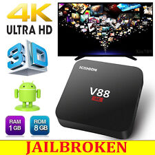 V88 Android 5.1 Smart 4K 8G TV Box Quad Core Media Player Free Sports Movies