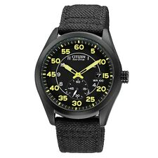 Citizen Eco-Drive Steel Nylon Strap Mens 100m Street Style Watch BV1085-14E