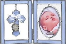 Baby Boy Stained Glass Picture Frame N1805BL