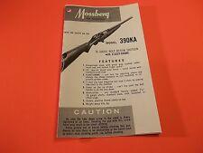 MOSSBERG 390KA 16 GAUGE Bolt Action Shotgun Tri-fold Instruction Manual
