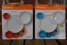 Set of 2 Boon Groovy Interlocking Toddler Bowl and Plate Set