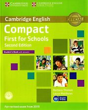 Cambridge COMPACT FIRST FCE FOR SCHOOLS Student Book 2ND ED w Answers&CD-ROM New