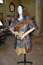 Womens Banded Iron Armor Set  Skyrim inspired Costume