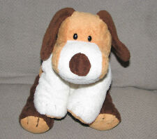 TY PLUFFIES WHIFFER STUFFED PLUSH PUPPY DOG BEAGLE 2002 WHITE BROWN BEANS EUC