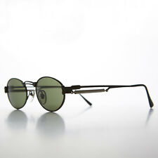 Gothic Steampunk Victorian Oval Vintage Sunglasses  Black/Green NOS- MAXWELL