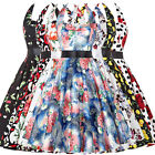 Women Vintage Swing 50's 60's Floral Pin Up Retro Housewife Cocktail Party Dress