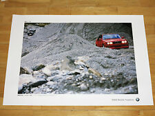 "BMW M3 E30 POSTER 34 - "" 75 JAHRE BMW AUTOMOBILE "" / ORIGINAL VINTAGE MINT 10/12"