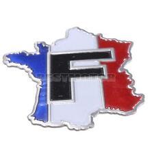 3D Métal l Insigne Emblème Stickers Autocollant Fit Pr Voiture  France Drapeau
