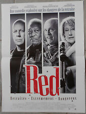 Affiche RED Helen Mirren BRUCE WILLIS Morgan Freeman 40x60cm