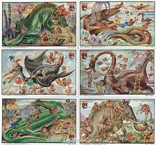 Figurine Lavazza serie n°6 Gli Animali Antidiluviani ANNO 1949 Chromo