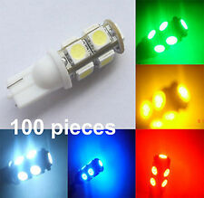 Wholesale 100 X T10 194,168,2825, 9 x 5050 SMD LED White Car Lights Lamp Bulb