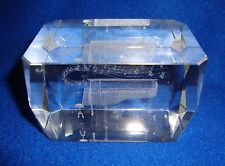 Glass 3-D Piano Paperweight
