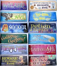 24 Bumper Stickers Harry Potter Book of Large Full-Color WIZARD Stickers 3x9 NEW