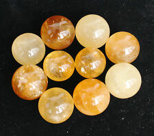 340g 10Pcs TOP!!!! NATURAL YELLOW CALCITE CRYSTAL SPHERE BALL HEALING