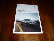 VW Passat TSI ECOFUEL Prospekt 01/2009