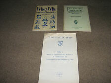 3 x RELIGIOUS BOOKS WHOs WHO IN CHURCH HISTORY WESTMINSTER ABBEY CATHOLIC BELIEF
