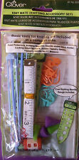 KNIT MATE KNITTING ACCESSORY SET Stitch Markers Point Protectors Counters CLOVER