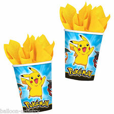 8 POKEMON Children's Birthday Party Disposable 9oz Paper Cups