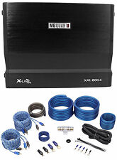 MB Quart Xa1-600.4 600 Watt RMS X-Line 4-Channel Car Stereo Amplifier + Amp Kit
