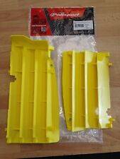 SUZUKI RMZ 450 RMZ450 2008 -2016  POLISPORT RADIATOR LOUVRES RAD GUARDS  YELLOW