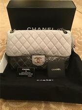 Chanel NWT Grey Ombré Patent Leather Chanel Melrose Degrade Flap Bag Cruise 2008