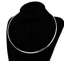 Lot 5pcs Thin 3mm Stainless Steel Choker Collar Open Cuff Necklace Chain Jewelry