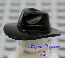 NEW Lego BLACK FEDORA HAT - Outback Indiana Jones Minifig/Minifigure Head Gear