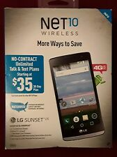 New Net10 LG Sunset LTE 4G LTE with 8GB Memory Prepaid Cell Phone - Black L33L