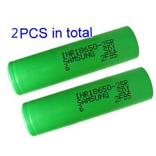 Genuine Samsung INR 18650 25R High Drain Flat Top Battery 2500mAh 3.7V (2PCS)