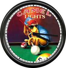 Joe Camel Playing Billiard Pool Table Advertising Game Cigarette Sign Wall Clock