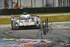 "Le Mans Driver Andre Lotterer Hand Signed Photo Audi 12x8"" AA"
