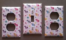 MY LITTLE PONY LIGHT SWITCH & OUTLET SET - NURSERY - GIRLS ROOM - FREE SHIPPING