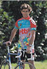 CYCLISME carte cycliste JIM VAN DE LAER équipe LOTTO caloi mavic 1993