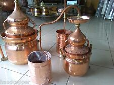 Bain Marie with Lentil Distillery 20 liters * Alambicco * Alembic *Still* copper