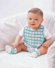 Bibs N Booties Crochet Pattern Booklet - 4 Sets For Baby
