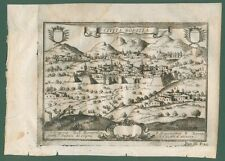 CIVITA BORELLA, Chieti (Abruzzo). Dall'opera di G.B. Pacichelli. Napoli, 1703.