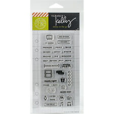 """Kelly Purkey Clear Stamps 2.5""""X6""""-TV Planner"""