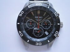 Gents wristwatch SEIKO CHRONOGRAPH 100 M quartz watch working no back case 6T63A