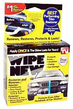 Wipe New TRIM RESTORER Faded Plastic Bumpers Dashboard Panels Leather Vinyl NiB