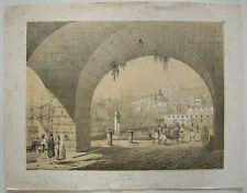 Algier pres de la Marine Orig Lithograhie A. Otth 1850 Afrika Alger Algerien