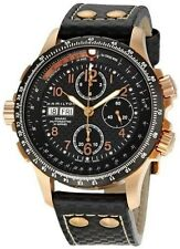 NEW HAMILTON KHAKI X-WIND AUTO CHRONO ROSE GOLD H77696793