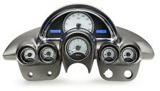 1958-62 Chevy Corvette Silver Alloy & Blue Dakota Digital VHX Analog Gauge Kit