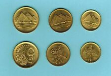 "1984 Egypt  "" Pyramids "" 3 Coins Uncirculated 1, 2 & 5 Piastres"