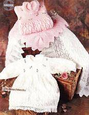 BABY LACY DRESS &  SHAWL / birth to 9 months - 4ply - baby knitting pattern