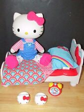 """Hello kitty vinyl Sanrio pose-able doll bed bedding clock slippers set 12-13"""""""